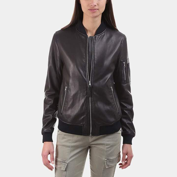 Mackage Val Leather Bomber Jacket
