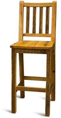 "Fairbury Solid Wood 24"" Counter Stool (Set of 4) Millwood Pines"