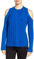 Vince Camuto Petite Women's Cold Shoulder Sweater