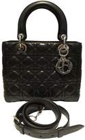 Christian Dior Lady Black Leather Handbags