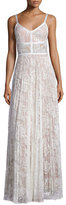 Alexis Isabella Pleated Lace Maxi Dress, White