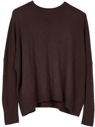 Oyuna Mara Knitted Wool Blend Pullover In Star Wine