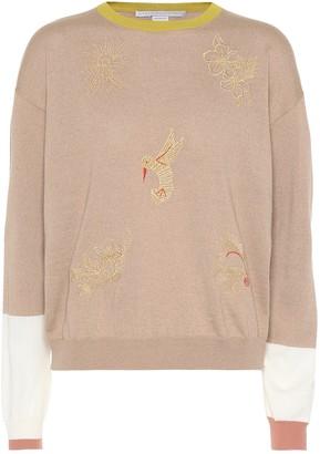 Stella McCartney Embroidered wool sweater