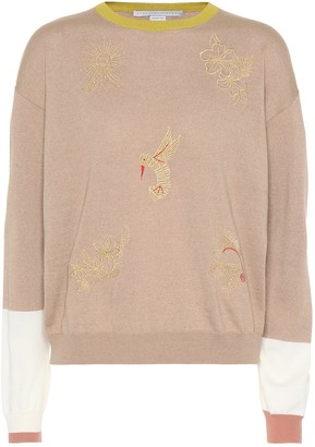 Stella McCartney Embroidered wool sweater