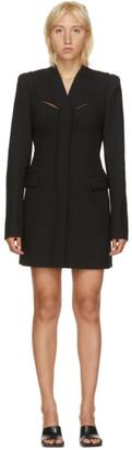 Dion Lee Black Tailored Bra Blazer Dress