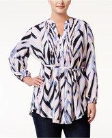Melissa McCarthy Trendy Plus Size Chevron-Print Tunic