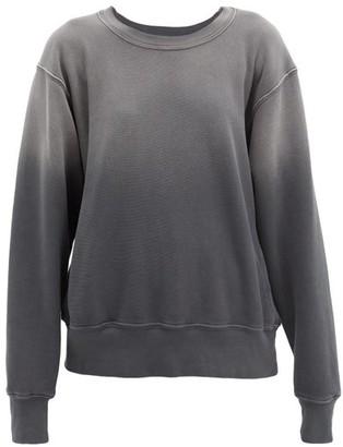 LES TIEN Ombre Brushed-back Cotton Sweatshirt - Black