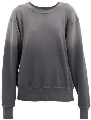 LES TIEN Ombre Cotton-jersey Sweatshirt - Black