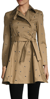 RED Valentino Mackintosh Cotton Belted Trench Coat