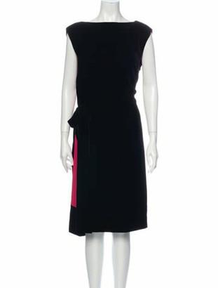 Lanvin 2015 Midi Length Dress Black