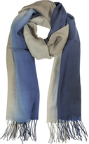 Mila Schon Gradient Blue/Brown Wool and Cashmere Stole