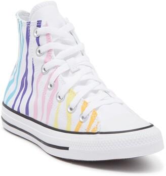 Converse Chuck Taylor All Star Zebra Stripe High Top Sneaker
