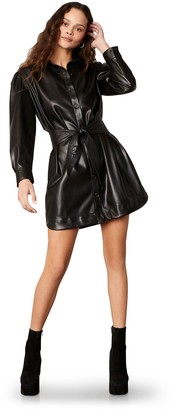 Steve Madden Faux Nelly Vegan Leather Dress Black