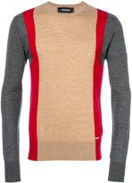 DSQUARED2 colour block jumper - men - Wool - M