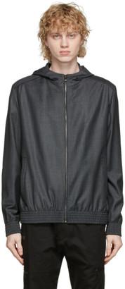 HUGO BOSS Grey and Black Houndstooth Hatric Jacket