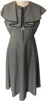 Rochas Grey Wool Dress for Women