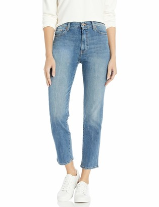 The Drop Manchester High-Rise Straight Fit Ankle Jean