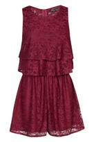 Select Fashion Fashion Womens Red Lace Double Layer Playsuit - size 10