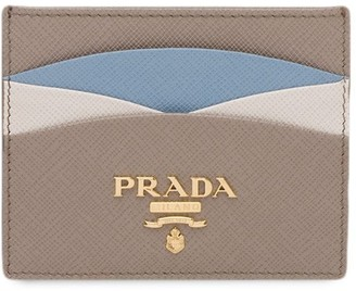 Prada colour block Saffiano card holder