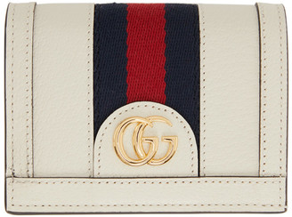 Gucci Off-White Ophidia Card Holder Wallet