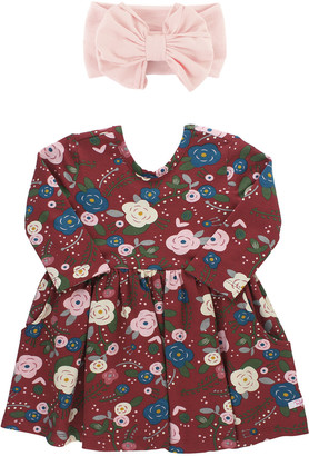 RuffleButts Girl's Budding Beauty Dress w/ Bow Headband, Size 0-4T