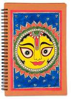 Handmade Paper Journal Sun and Moon 40 Blank Pages, 'Surya the Sun'