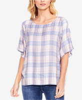 Vince Camuto Daydream Plaid Blouse