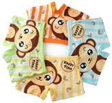 BOOPH Baby Boys' Boxer Briefs Monkey Trunk Cotton Underwear 4 Pack Set Kids Short 2-4 Years S