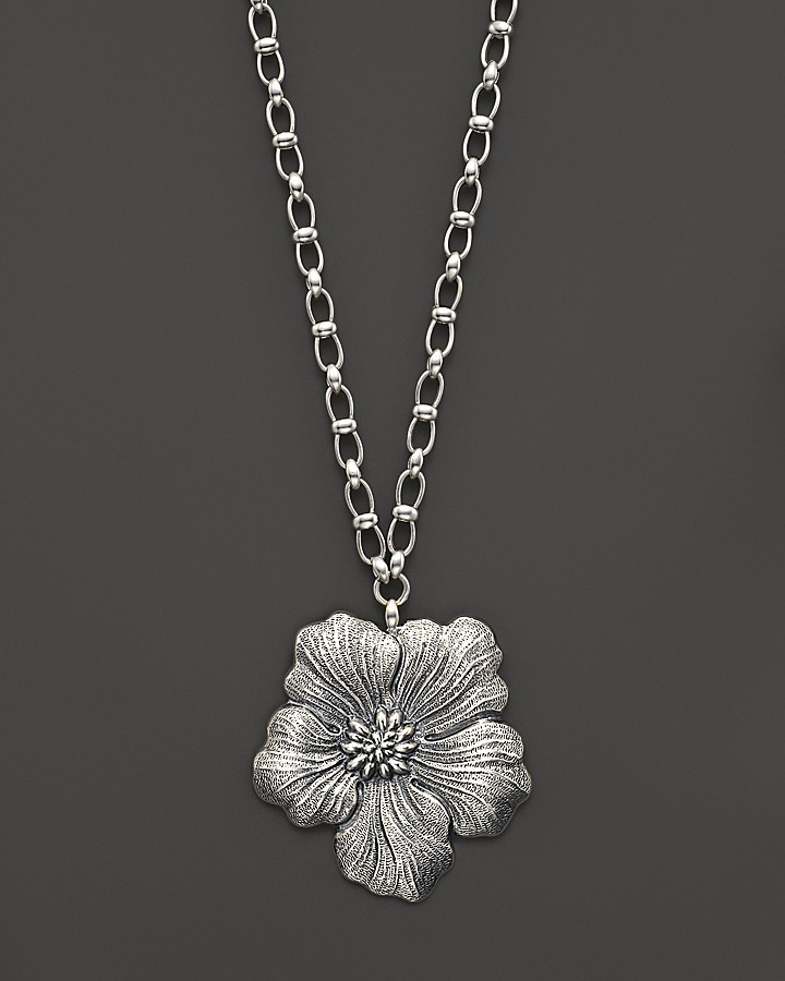 "Buccellati Blossom"" Large Flower Chain Necklace, 28"""