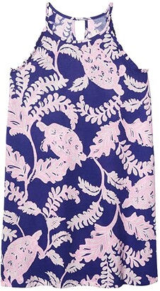 Lilly Pulitzer Mini Alek Dress (Toddler/Little Kids/Big Kids) (Galaxy Blue What The Shell) Girl's Clothing