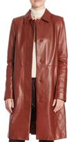 Theory Mod Leather Trench Coat