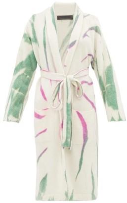 The Elder Statesman Cyclone Tie-dye Cashmere-blend Cardigan - Womens - Ivory Multi