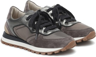 Brunello Cucinelli Leather-trimmed sneakers