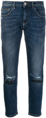 Philipp Plein Embroidered Straight-Leg Jeans