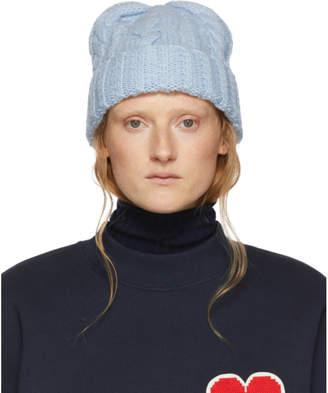 Ami Alexandre Mattiussi Blue Wool Knit Beanie