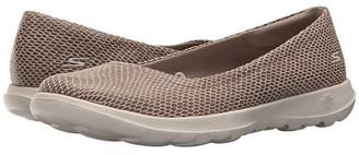 Skechers Performance Go Walk Lite - Feisty (Taupe) Women's Slip on Shoes