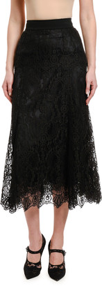 Dolce & Gabbana Lace Ankle-Length Skirt