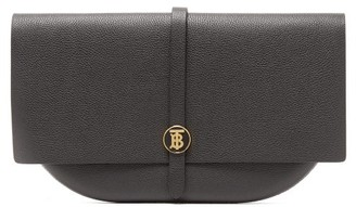 Burberry Tb-monogram Leather Clutch - Black