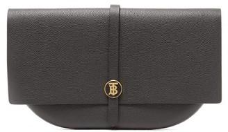 Burberry Tb-monogram Leather Clutch - Womens - Black