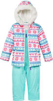 Carter's 2-Pc. Hooded Jacket with Faux-Fur Trim & Pants Snowsuit, Toddler Girls