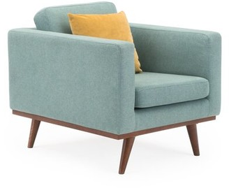 Eyre Armchair George Oliver Upholstery Color: Light Gray