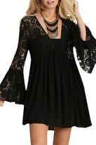 Umgee USA Lace Peasant Dress