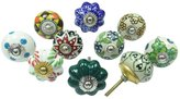Ibacrafts Multicolor Decorative Knobs Cabinet Knobs Lot Of 10 Pcs Ceramic Drawer Pull
