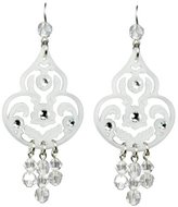"Tarina Tarantino Classic"" Galaxy White Chandelier Style Earrings"