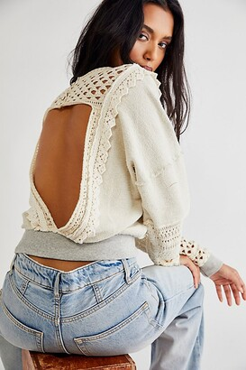 Free People Lace Of Base Sweater