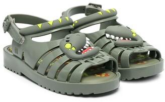 Mini Melissa Alligator-Style Sandals