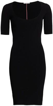 Helmut Lang Neon Link Ribbed Dress