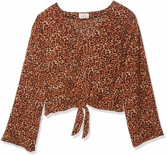 Forever 21 Women's Plus Size Leopard Print Knotted Top