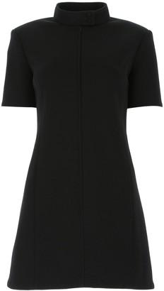 Saint Laurent High-Neck Mini Dress