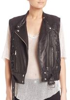 IRO Neo Lace-Up Leather Vest